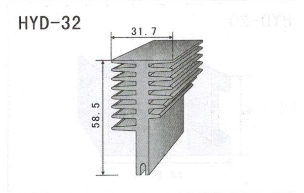3cm型材散热器32