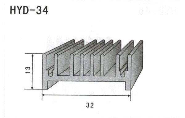 3cm型材散热器34