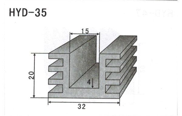 3cm型材散热器35