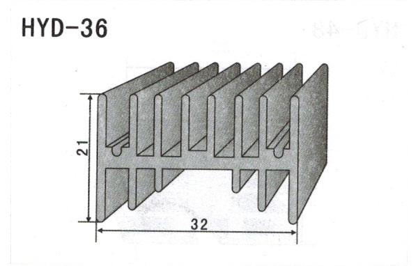 3cm型材散热器36