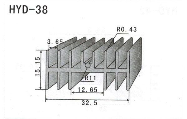 3cm型材散热器38