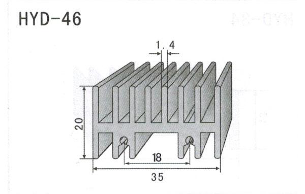 3cm型材散热器46