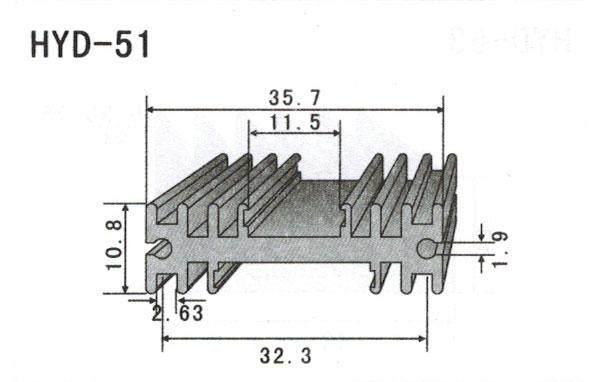 3cm型材散热器51