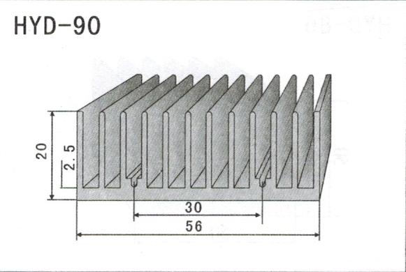 5cm型材散热器90