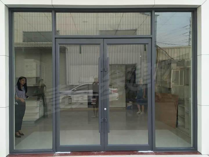 玻璃地弹门 型材玻璃地弹簧门