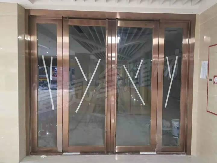 地弹簧门 不锈钢玻璃门