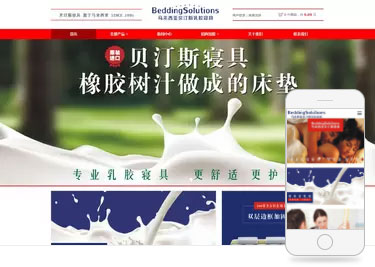 橡胶树汗做成的床垫建网站案例