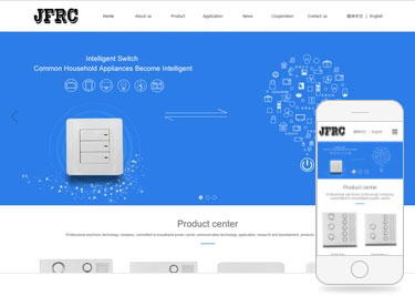 JFRC网站建设案例的版面很大方
