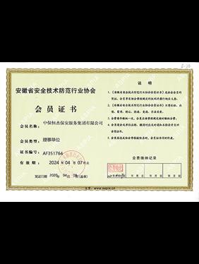 安徽省安全技术防范行业协会理事单位