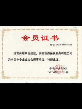 中国中小企业协会理事单位