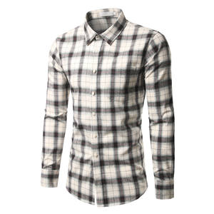 High Quality Cotton Plaid Long Sleeves Casual Shirts
