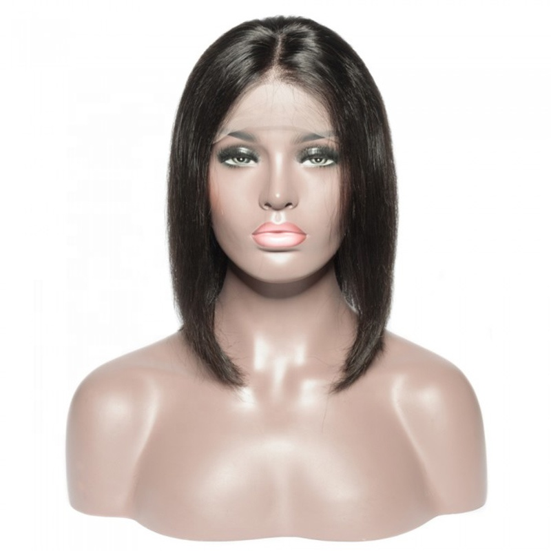 Bob Wig 1B Pink Ombre Human Hair Wigs Straight