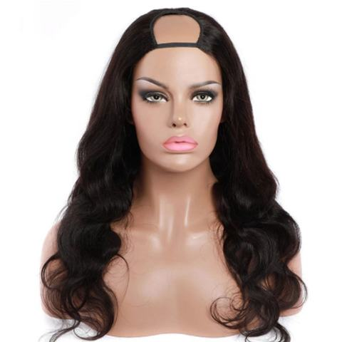 Synthetic Hair Machine Made Brown Baylayage Straight Heat Resistant Synthetic Wigs With Bangs for Women