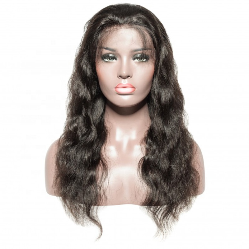 Wholesale 100% Brazilian Human Hair Body Wave Cuticle Aligned Full Lace Wig