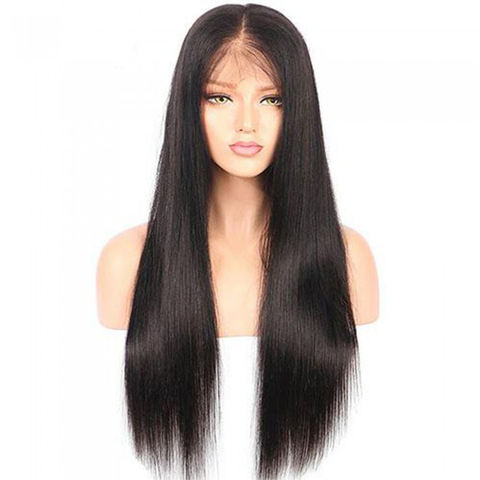 Synthetic Hair Machine Made Brown Baylayage Straigh Wigs