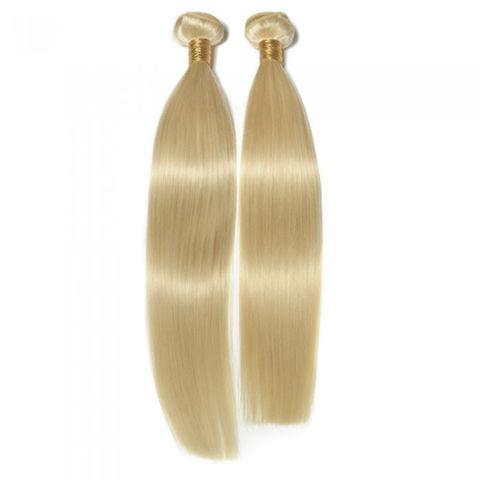 Blonde Virgin Colored Hair Extension Human Hair Blond Hair Bundles
