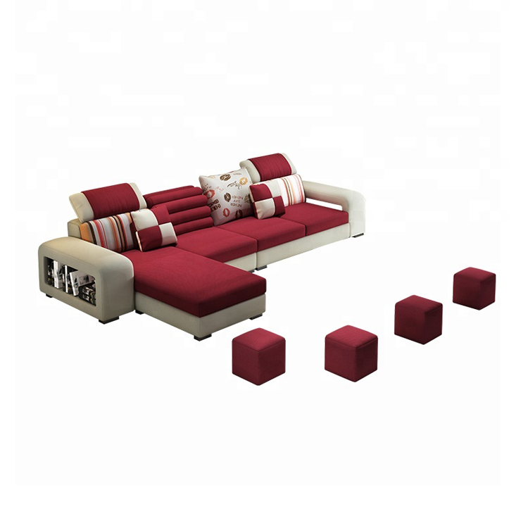 Modern Wholesale Home Furniture Sectional 6-seater Fabric Sofa Set for Living Room
