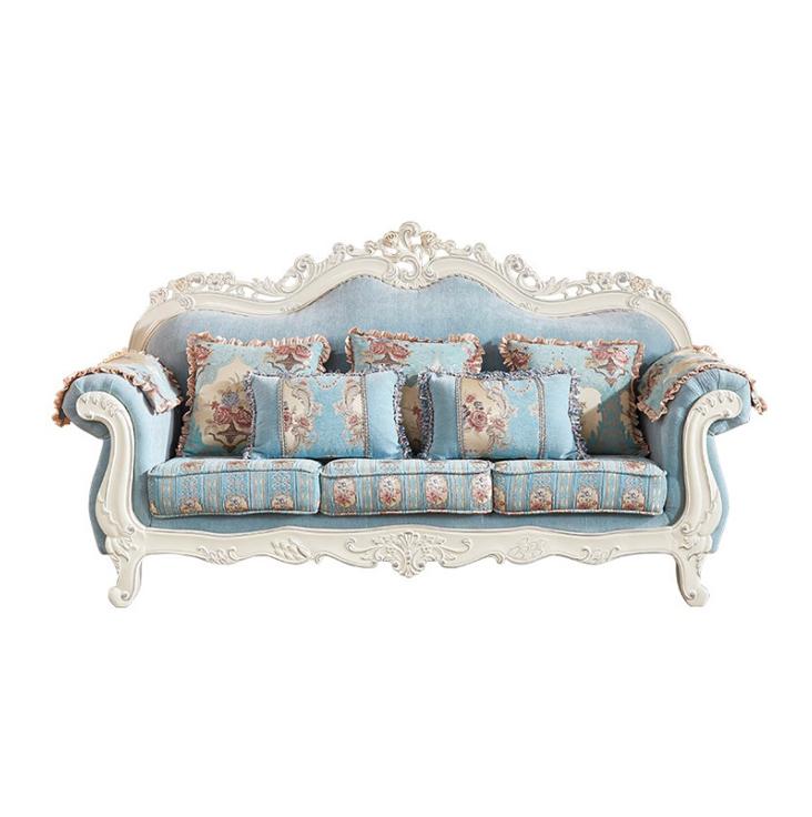 Light luxury European royal style customizable fabric sofa
