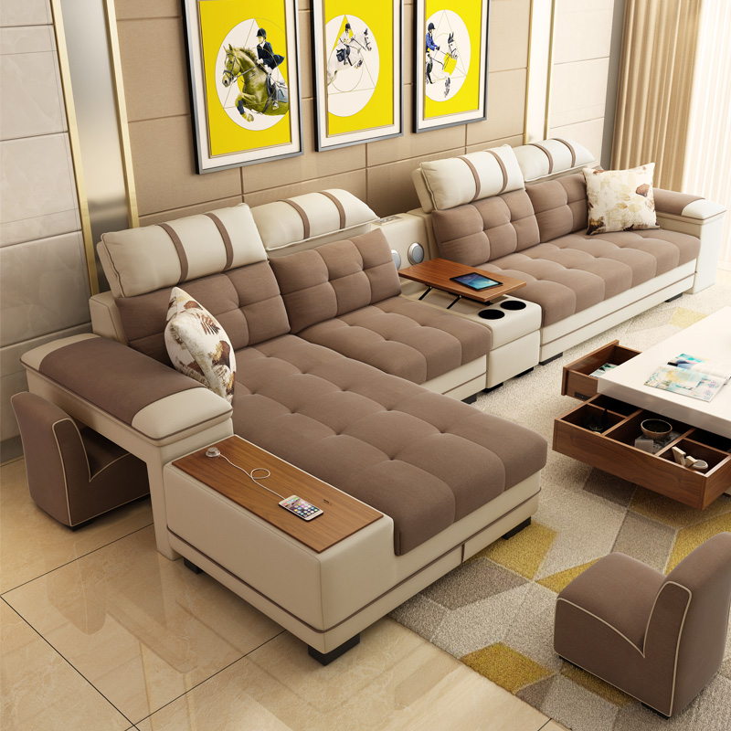 Deep Seating Couch Sectional Living Room Combination Sofa Set