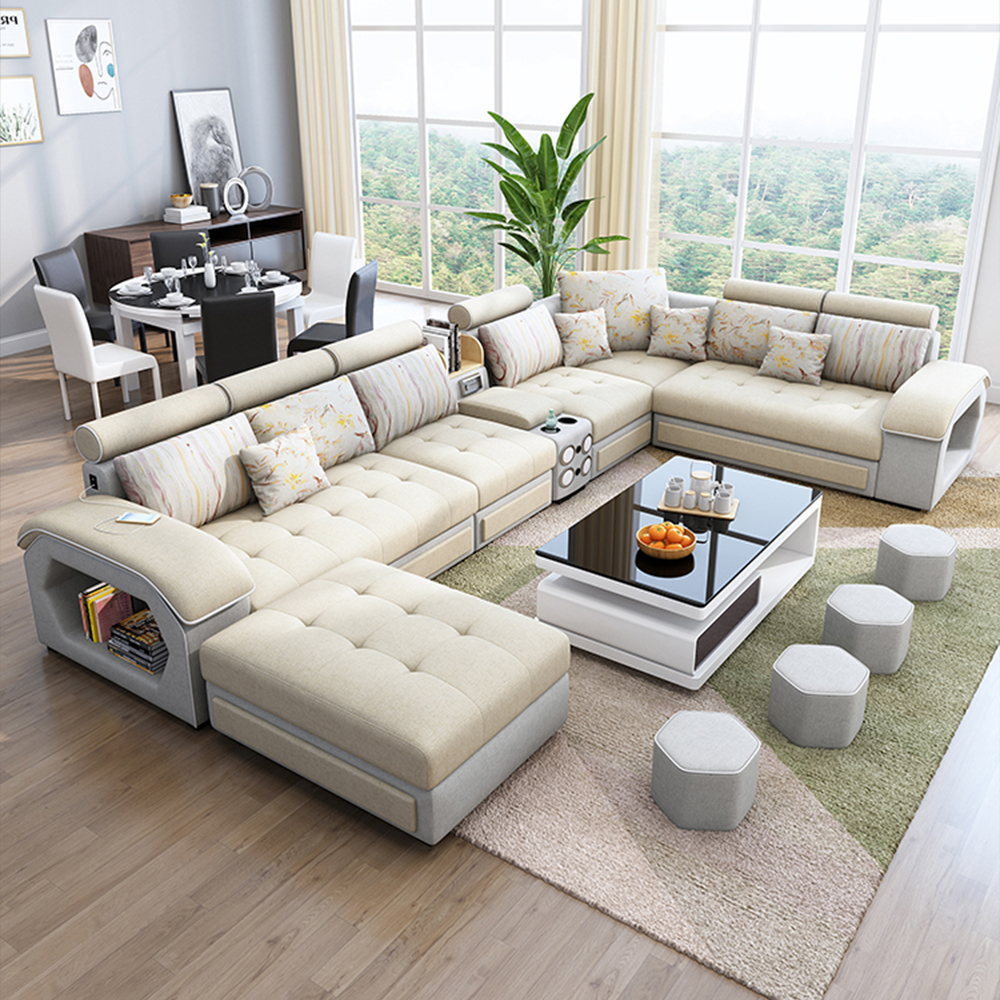 Deep Seating Couch Sectional Living Room Combination Sofa