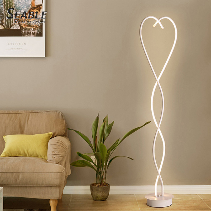 Fancy heart shape modern flower home corner use decorative night floor lamp