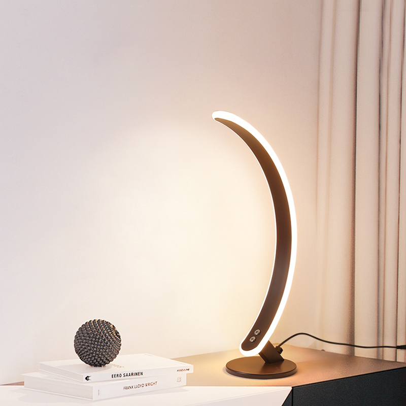 Hotel modern touch lamp shades led bar coffee dining table top ring light