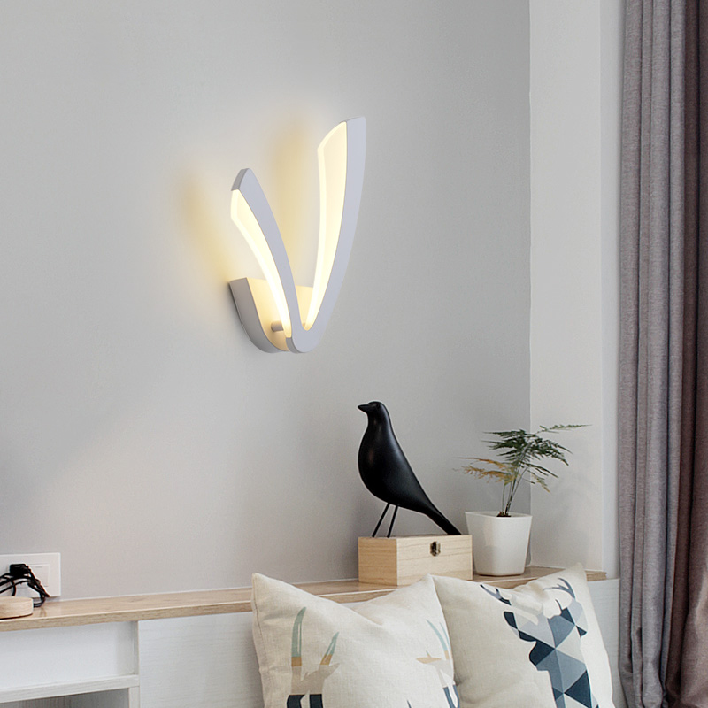 Modern bedroom decoration corridor living room indoor led wall lamp