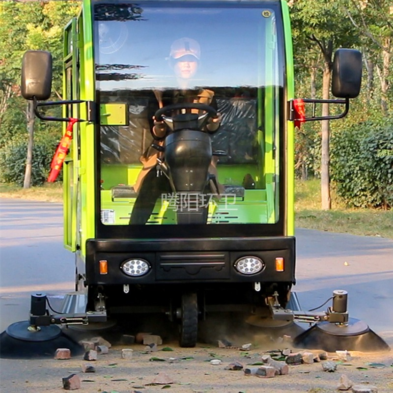 自驾式扫地封闭驾驶式扫地车扫路机垃圾箱可拆卸