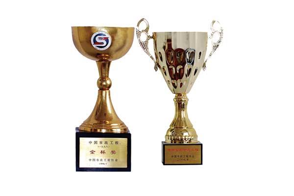 中国市政金杯奖奖状-2个