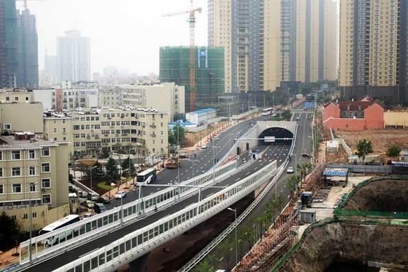 青岛胶州湾海底隧道接线工程