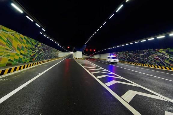 青岛胶州湾海底隧道接线工程--获鲁班奖