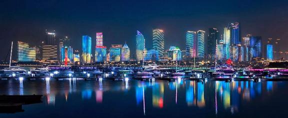 青岛上合峰会夜景