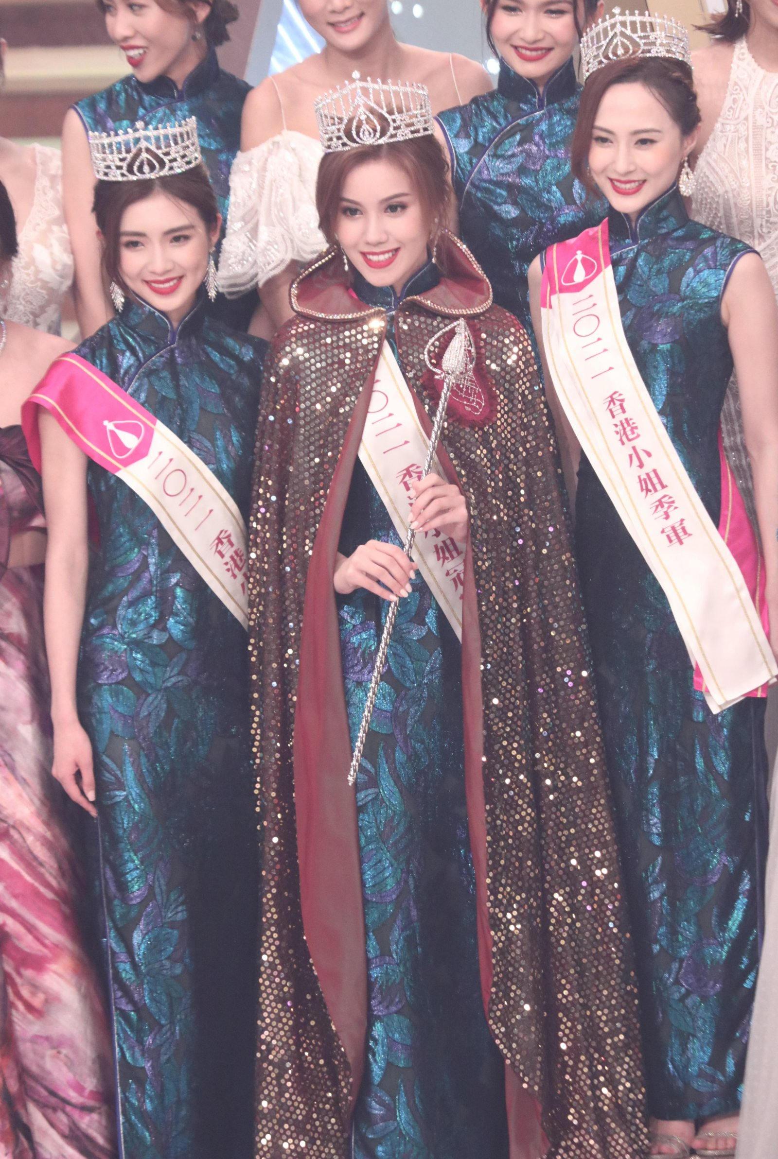 港姐三甲出炉:梁凯晴(左)、宋宛颖(中)、邵初