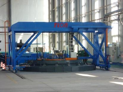 装料最大直径Φ3000mm ; 装料净装料最大量30000kg ;装料净 高度2000mm ; 炉底最大承压量45000kg; 最高工作温度1100°C