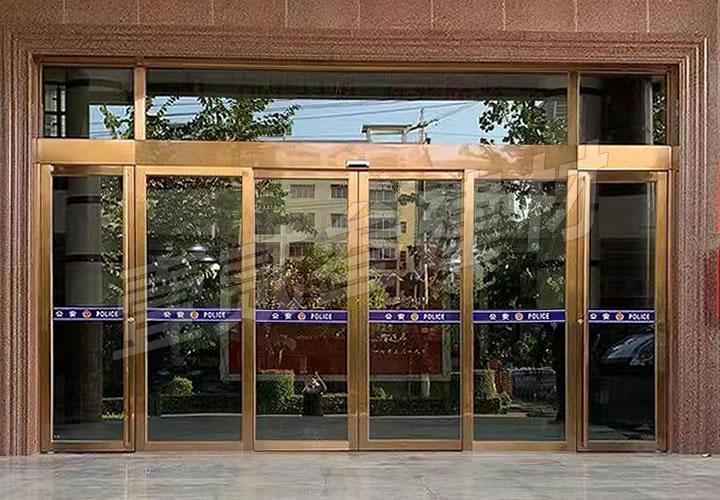 广西防城港市公安局自动门案例