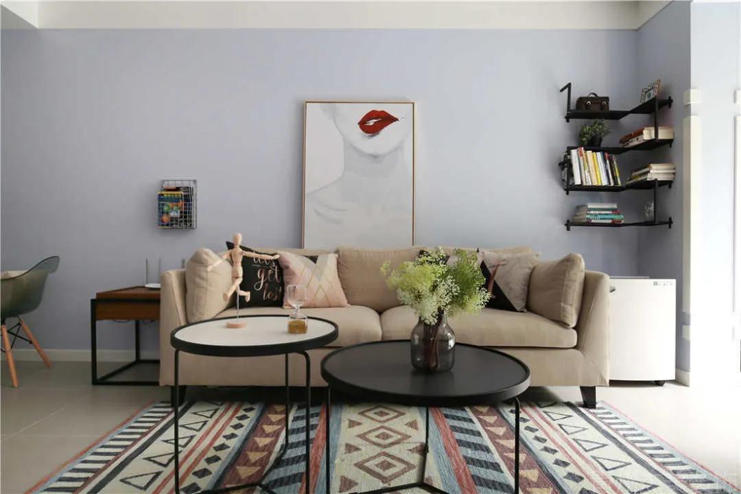 76平新房,堅持只刷漆不造型,全屋反而大氣倍增,太漂亮了