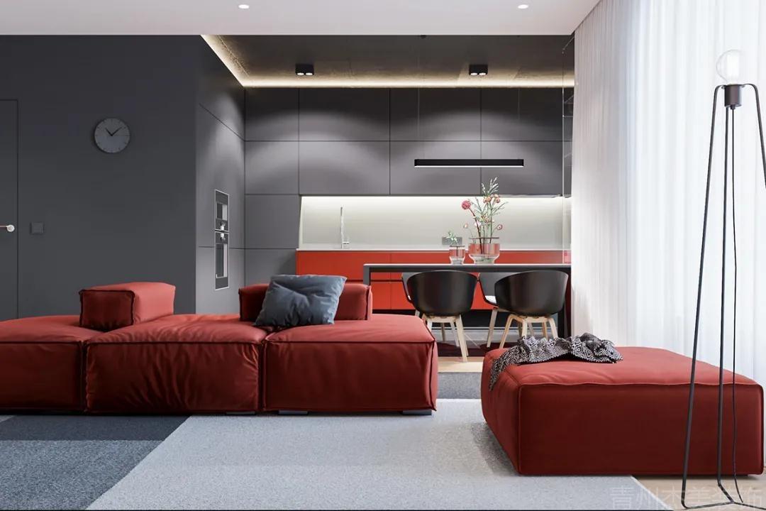88㎡小户型极简风格,高档灰色搭配无主灯,带来时尚空间!