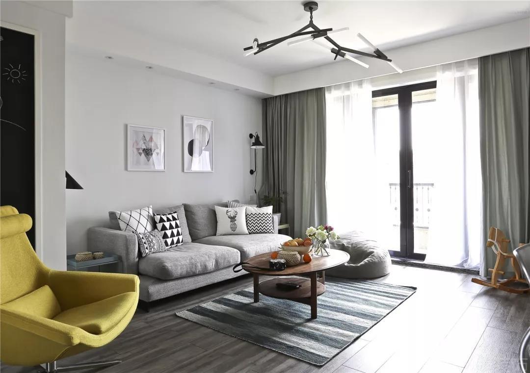 136㎡北欧风,简洁的硬装上加一些创意设计,打造一个充满了慵懒情调的空间!