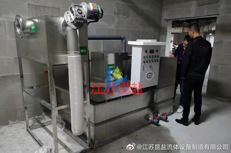 油水分离器施工现场