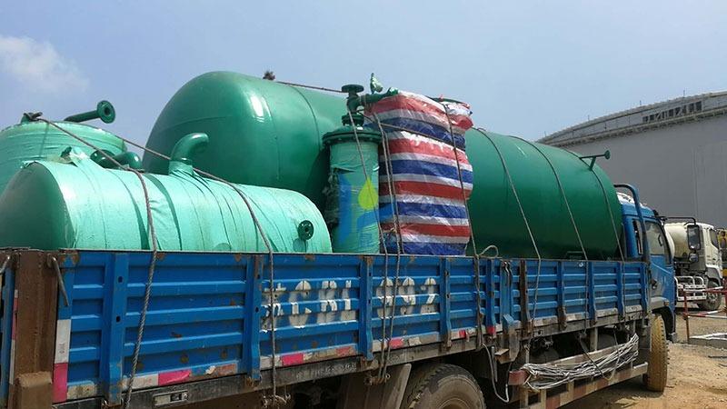 水处理设备运输到工地