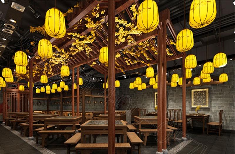 衢州菜餐饮店装修设计案例