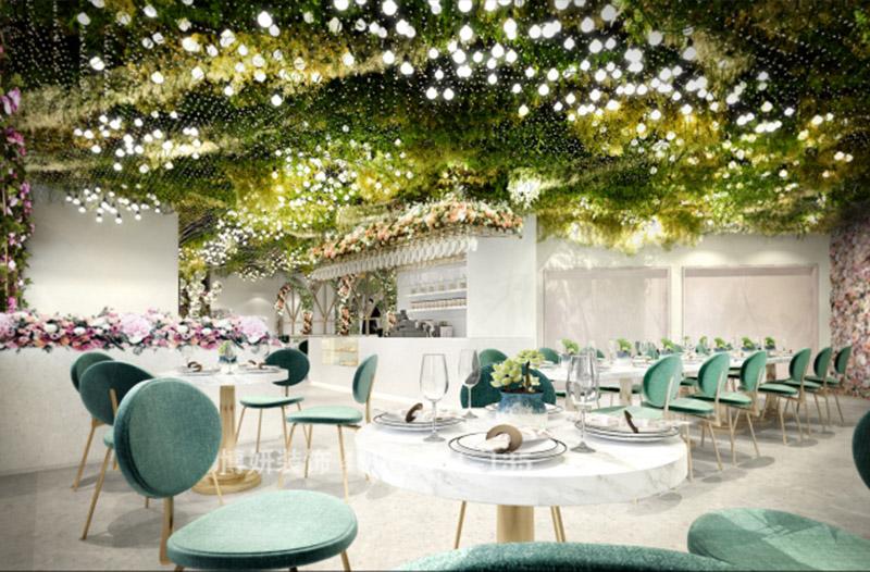 杭州特色主题餐厅装修设计 -花的世界,迷人眼