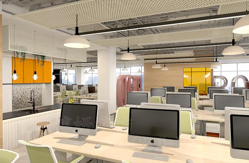 杭州评测企业办公室装修 |时尚企业装修案例