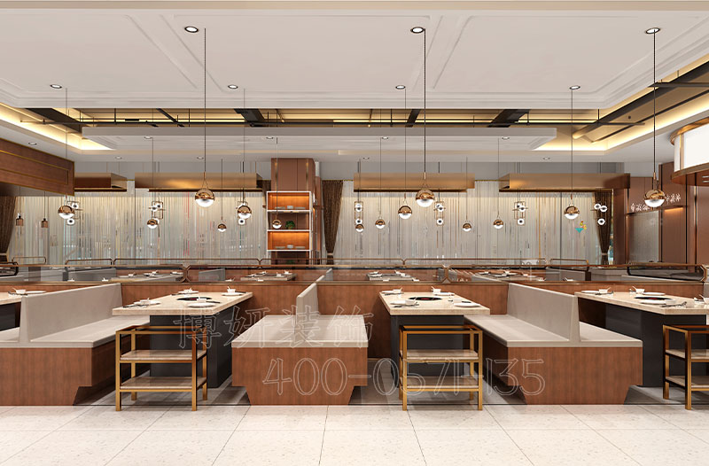 杭州自助餐厅装修设计案例|牛其林