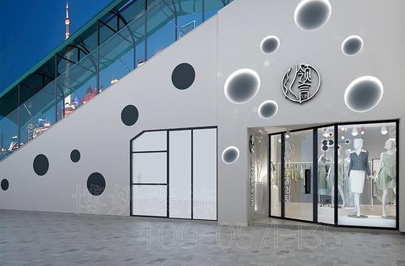 杭州精品女裝店裝修設計案例|領言