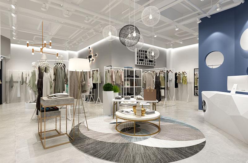 杭州精品女装店装修设计案例|领言