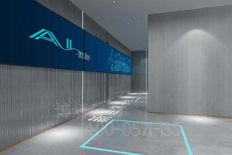 盘石网络湖州分企业展厅装修设计案例