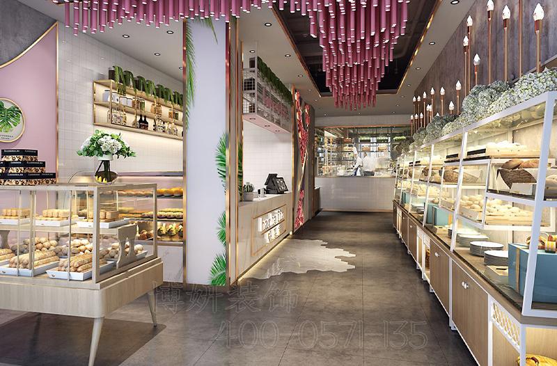 杭州烘焙店装修设计,专业烘焙店设计效果图,杭州专业烘焙店装修装饰,烘焙店装修案例展示