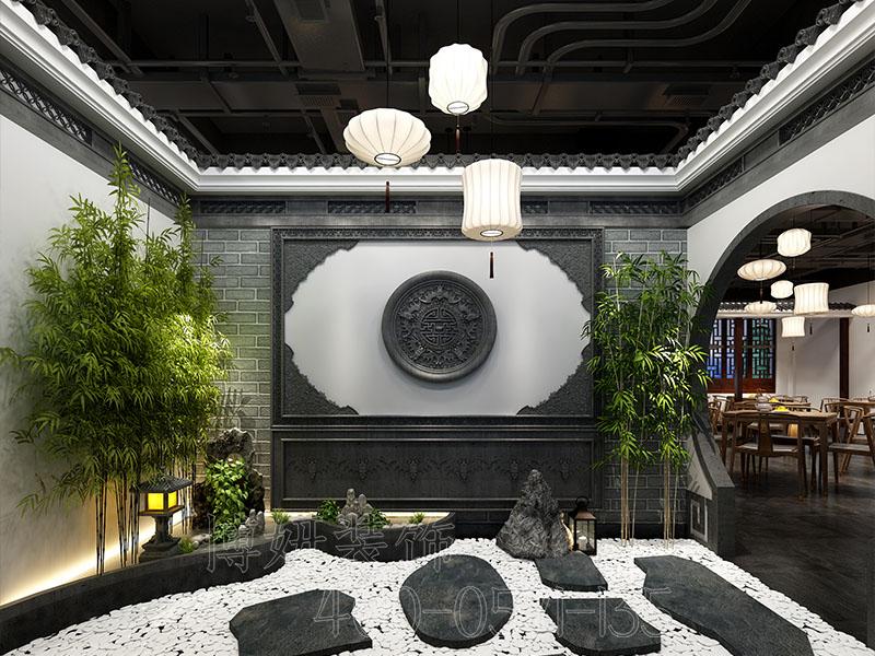 杭州中式餐饮店装修设计,专业中式餐饮店装修效果图,杭州餐饮店装修公司