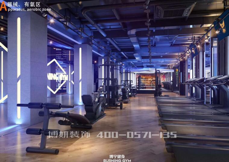 杭州健身房装修设计,专业健身房装修效果,杭州正规健身房装修公司哪家好